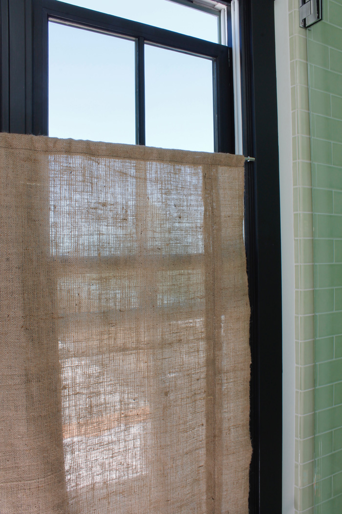 burlap window shades tension rod for visual simplicity decided that for this pair of windows should make one large panel rather than shade each window my burlap bolt was 40 the shingled house burlap window shades 20