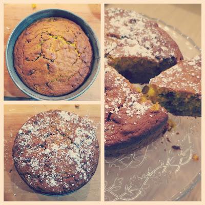 preparazione 4 torta zucca e gocce di cioccolato