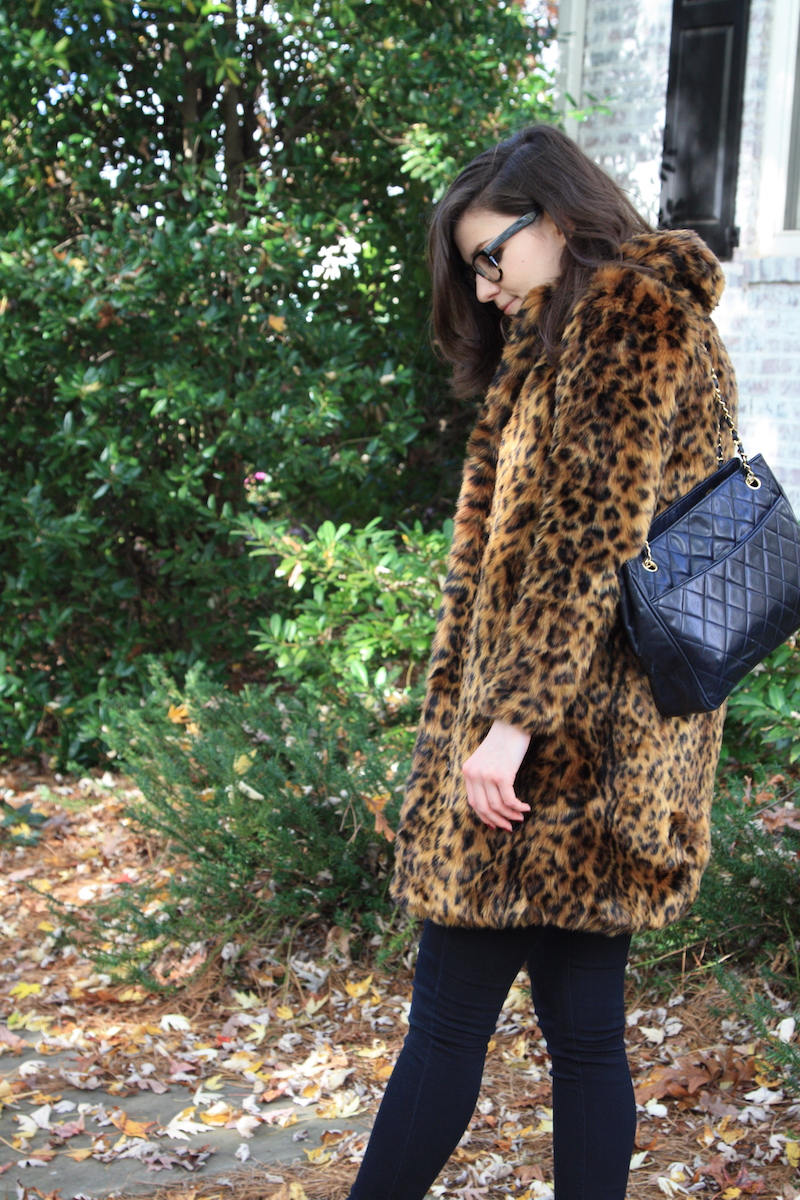 2017, OOTD, winter, cheetah, J.Crew,
