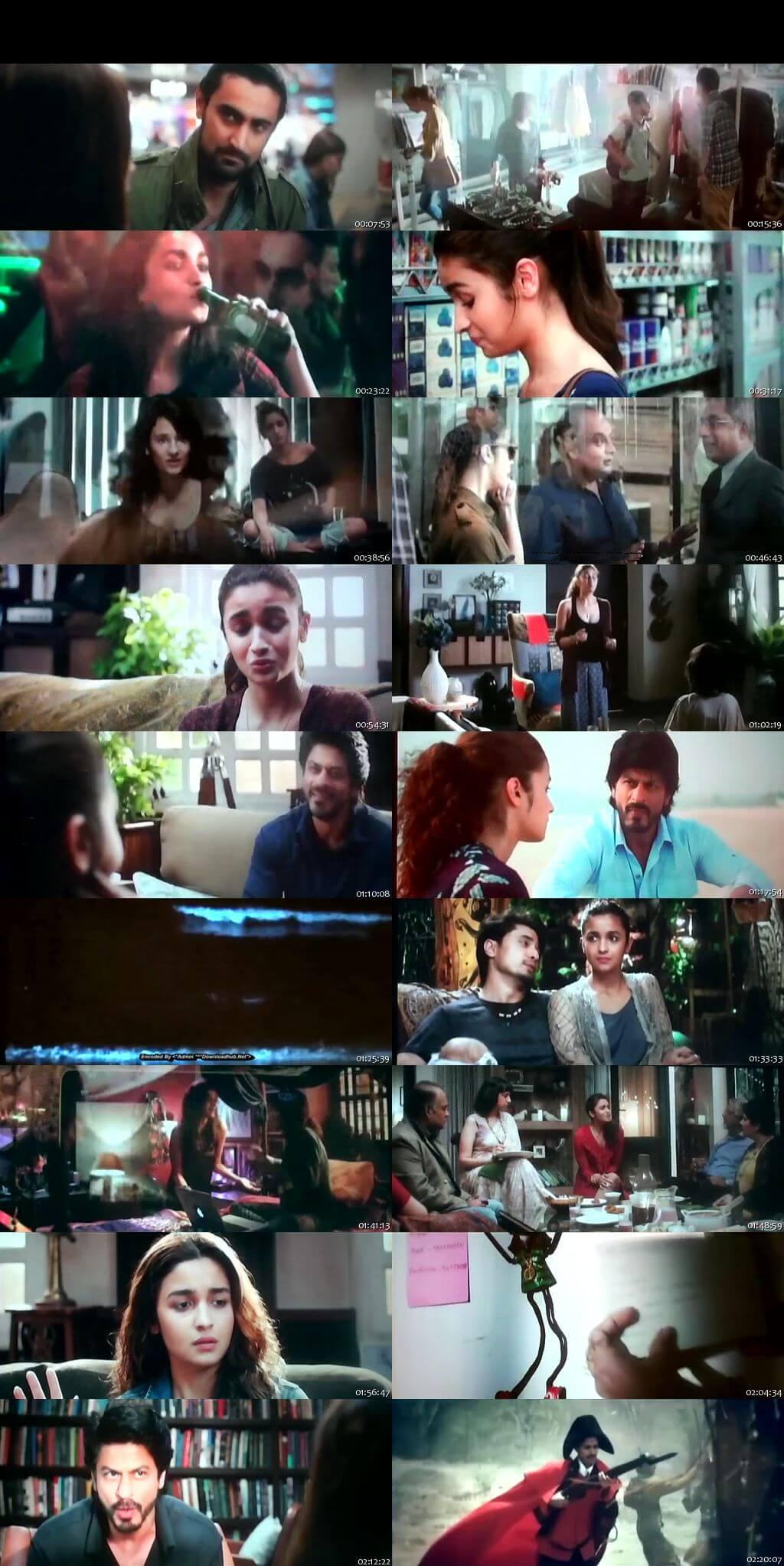 Watch Online Dear Zindagi 2016 100MB Full Movie Free Download For Mobiles DVDScr 3GP Mp4 HEVC