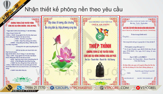 Thiệp thỉnh chùa An Phúc