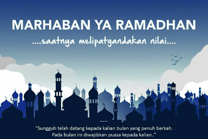 Jadwal Puasa 2020 Ramadhan 1441 H