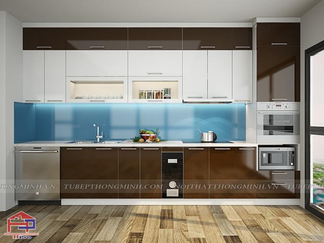 Mẫu thiết kế tủ bếp nhựa acrylic -4