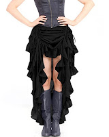 Steampunk clothing for women. Steampunk Showgirl Skirt