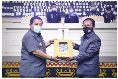 Ketua DPRD Lampung Terima Dokumen LKPJ Gubernur