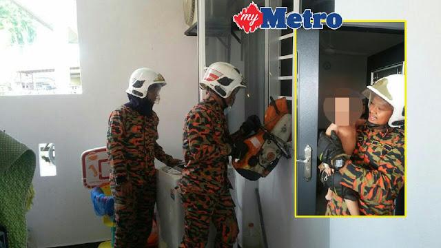 Bomba Selamat Dua Beradik Terkunci Dalam Rumah 30 Minit