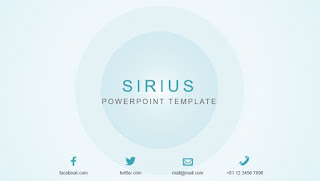 Template Powerpoint Keren Sirius by Jun Akizaki