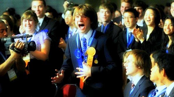 Jack Andraka ao Saber que Ganhou o Prêmio