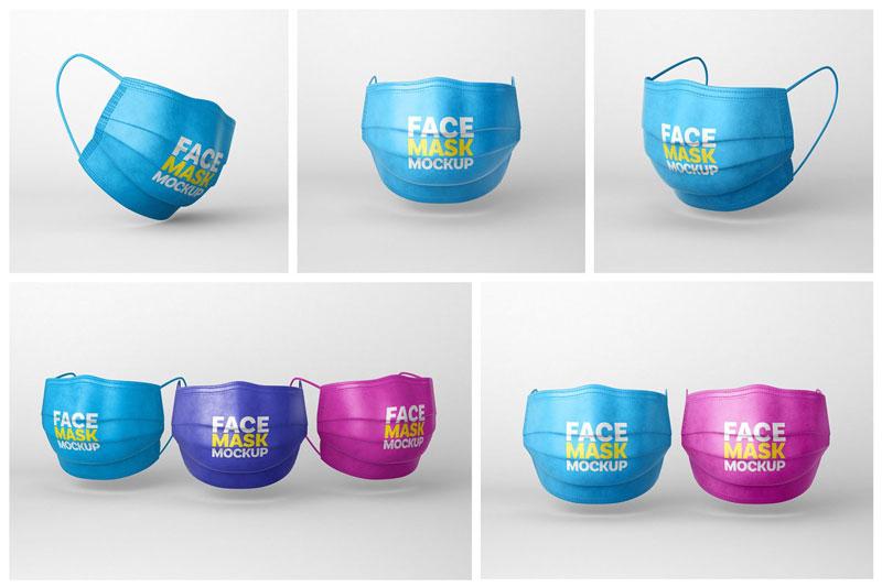 Face Mask Mockup Set Respirator 5445447 Download