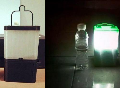 EL MUNDO DEL RECICLAJE Una lmpara hecha con agua y sal