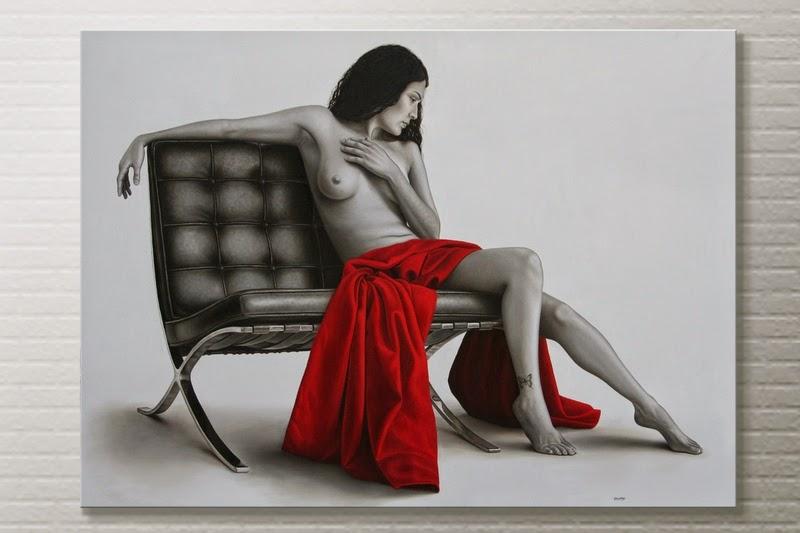 Se Eu Tivesse Asas - Omar Ortiz | Pintura Sensual Hiper-Realista  - Mexicano