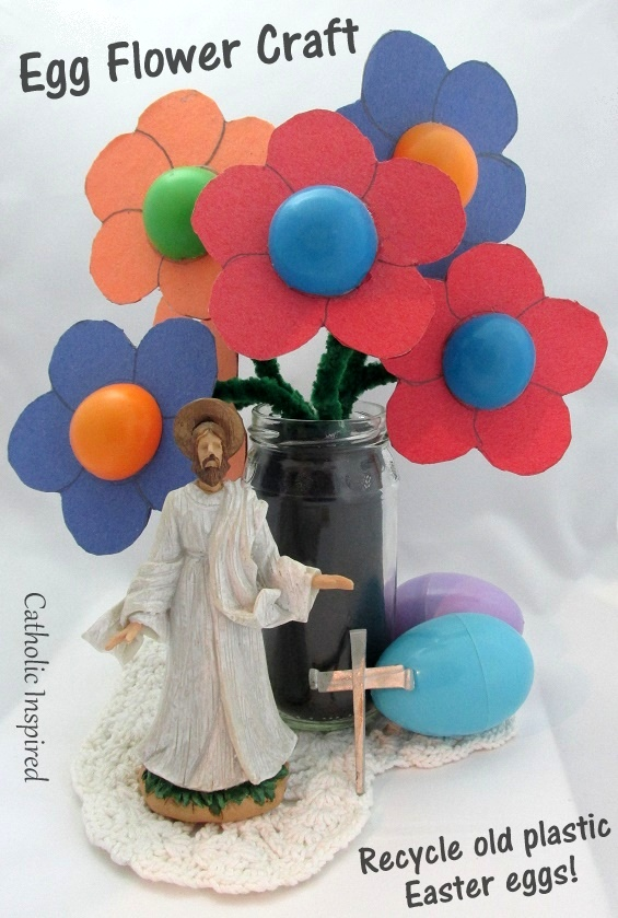 These Flowers Are Made From Plastic Easter Eggs The Give This Colorful Bunch Of A Cute Pop