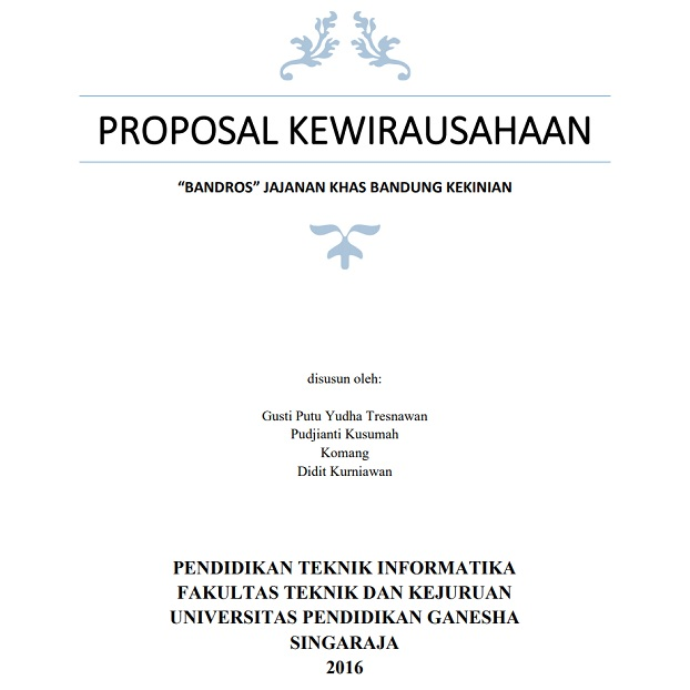 Contoh Cover Proposal