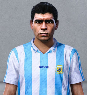 PES 2020 Faces Diego Maradona 1994 by Nahue