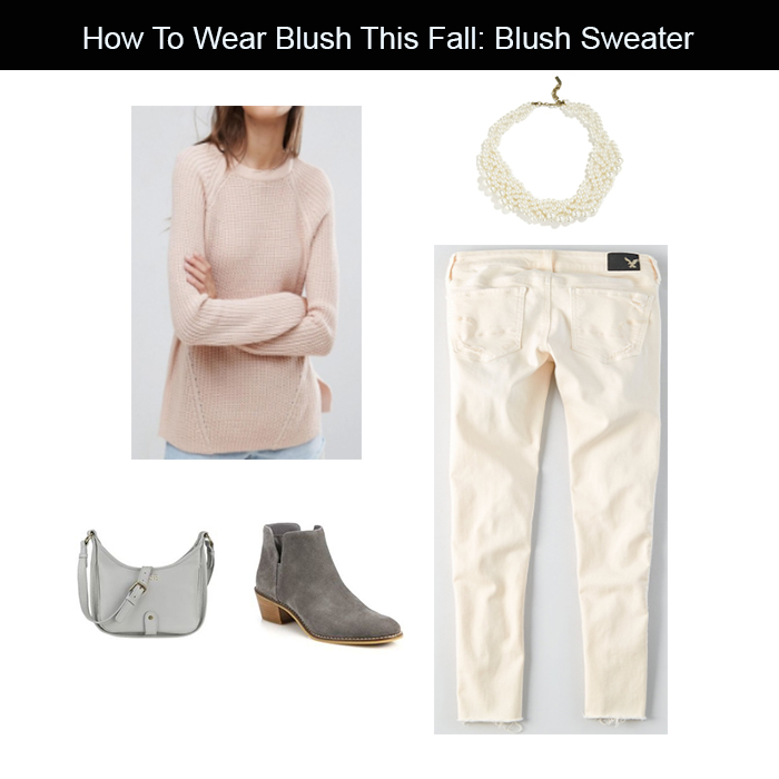 blush sweater outfit for fall