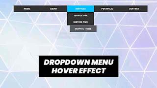 css dropdown menu hover