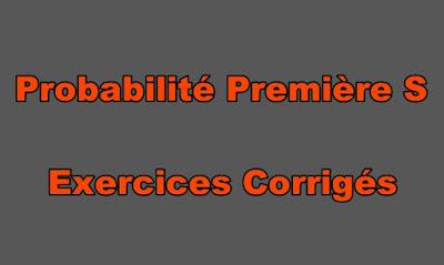 Probabilité Première S Exercices Corrigés PDF