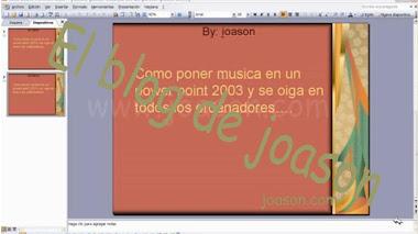 Poner musica en powerpoint 2003 y que se escuche en todos los ordenadores