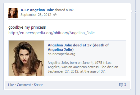 old post angelina jolie hoax