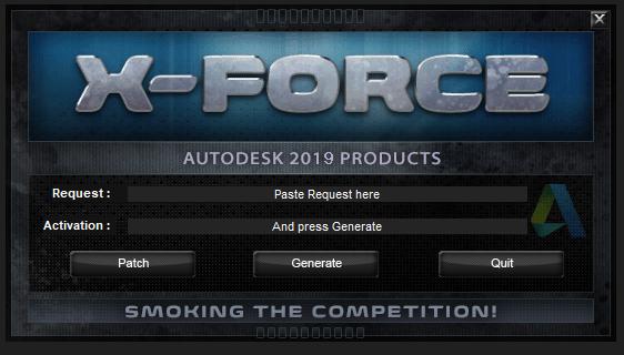 X-force KeyGenerator. Autodesk Products. (2018) …