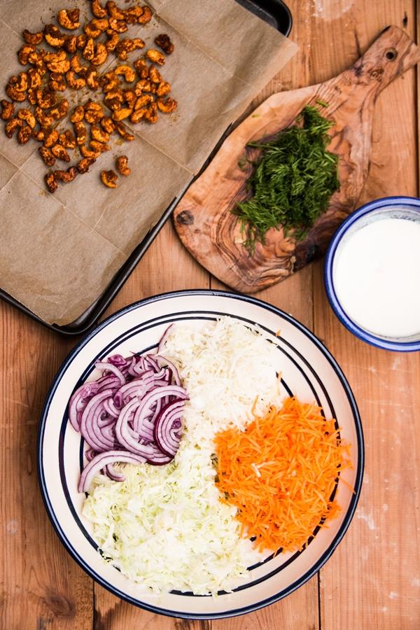 kapusta, coleslaw, sałatka na grilla