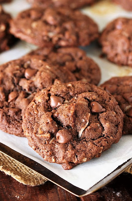 German Chocolate Chip Cookies with Coconut and Pecans Image