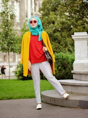 fashion hijab untuk orang kurus tinggi