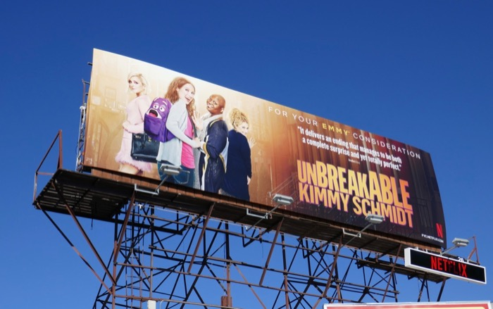 Unbreakable Kimmy Schmidt final episodes Emmy FYC billboard