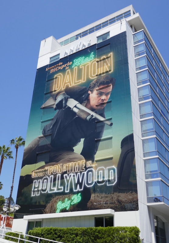 Leonardo Dicaprio Rick Dalton Once Upon Time in Hollywood billboard