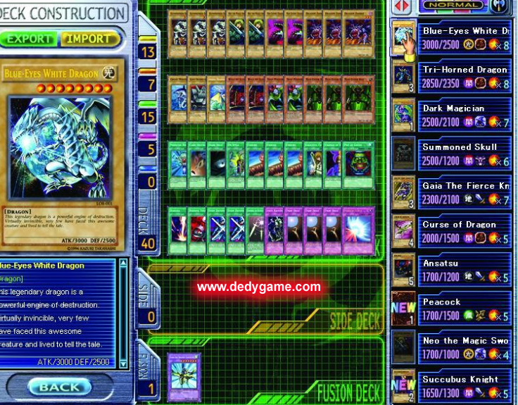 Yu-gi-oh! : power of chaos all cards download 4cheaters.