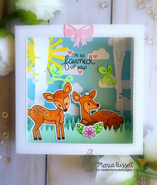 Fawn card by Maria Russell | Deer Friend Stamp Set by Newton's Nook Designs #newtonsnook #handmade