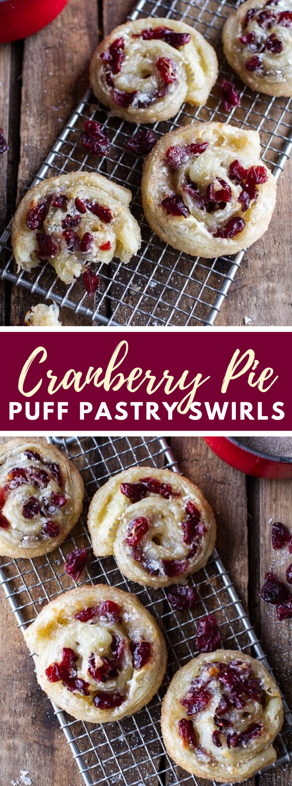 (Idiot Proof) 5-Ingredient Cranberry + Brie Cinnamon Sugar Puff Pastry Swirls #desserts #sweets