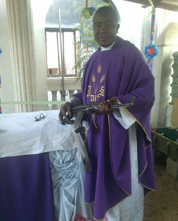 catholic priest ak47 rifle