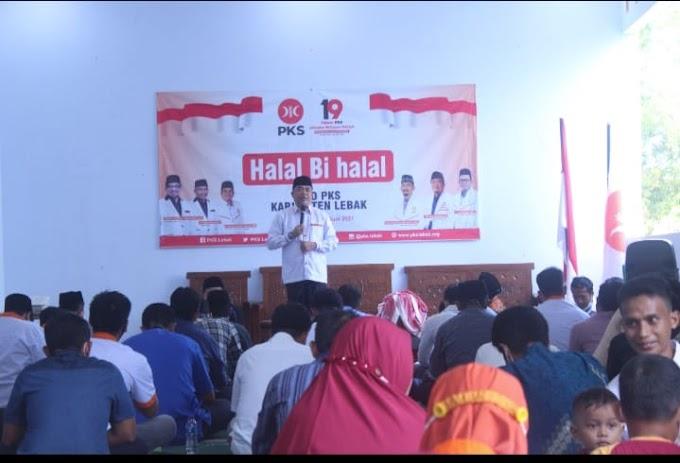 Halal bi Halal, Ketua DPD PKS Lebak Serukan Lanjutkan Semangat Ramadan