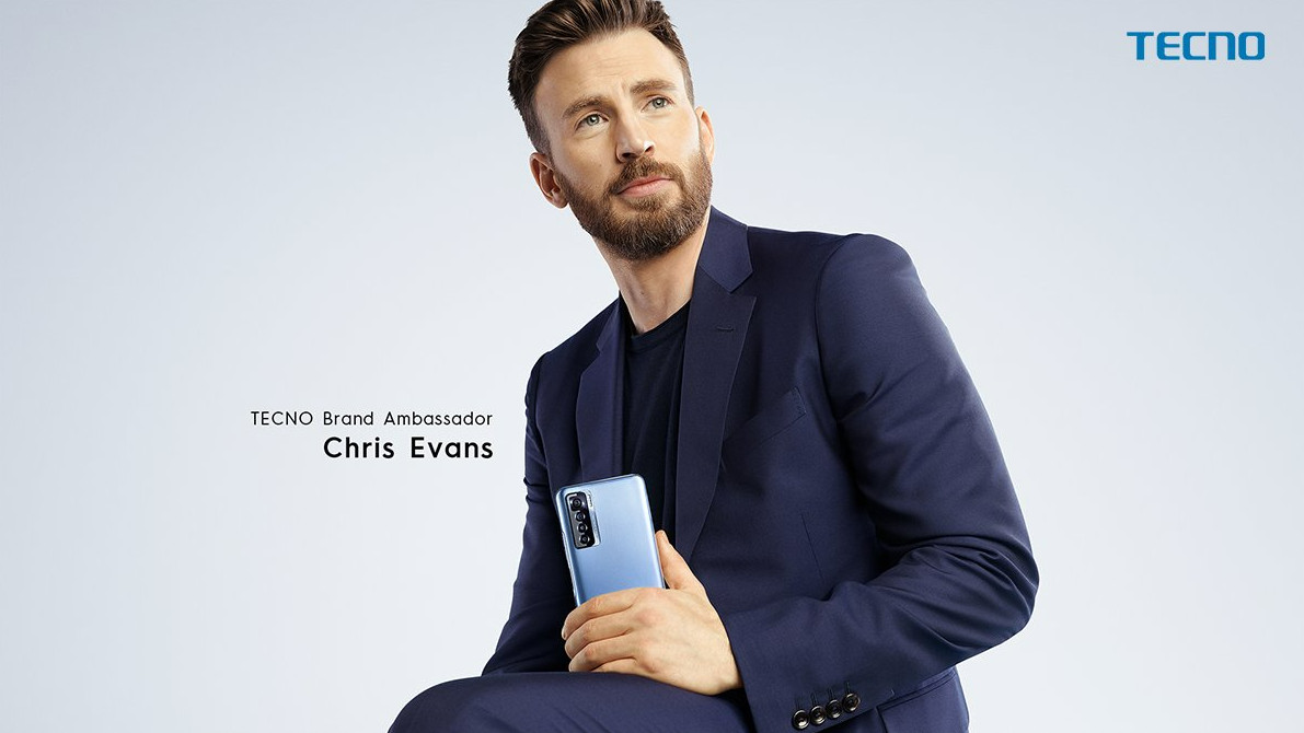 TECNO Mobile Chris Evans Global Celebrity Endorser
