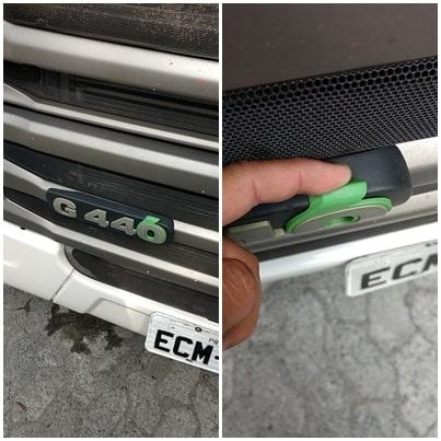 Entenda o significado símbolo verde nas plaquetas de identificação da Scania, scania, r, g, p, 440, 460, 400, 420, 360, 380, 500, 450, 540, paqueta, identificação, emblema, 0, verde,