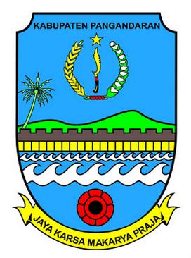 Gambar Logo Kabupaten Pangandaran berdasarkan Peraturan Bupati Pangandaran Nomor 4 Tahun 2013