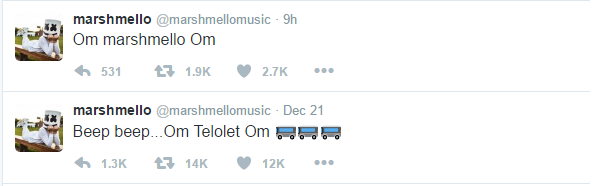 Twitter DJ Marshmello Om Telolet Om