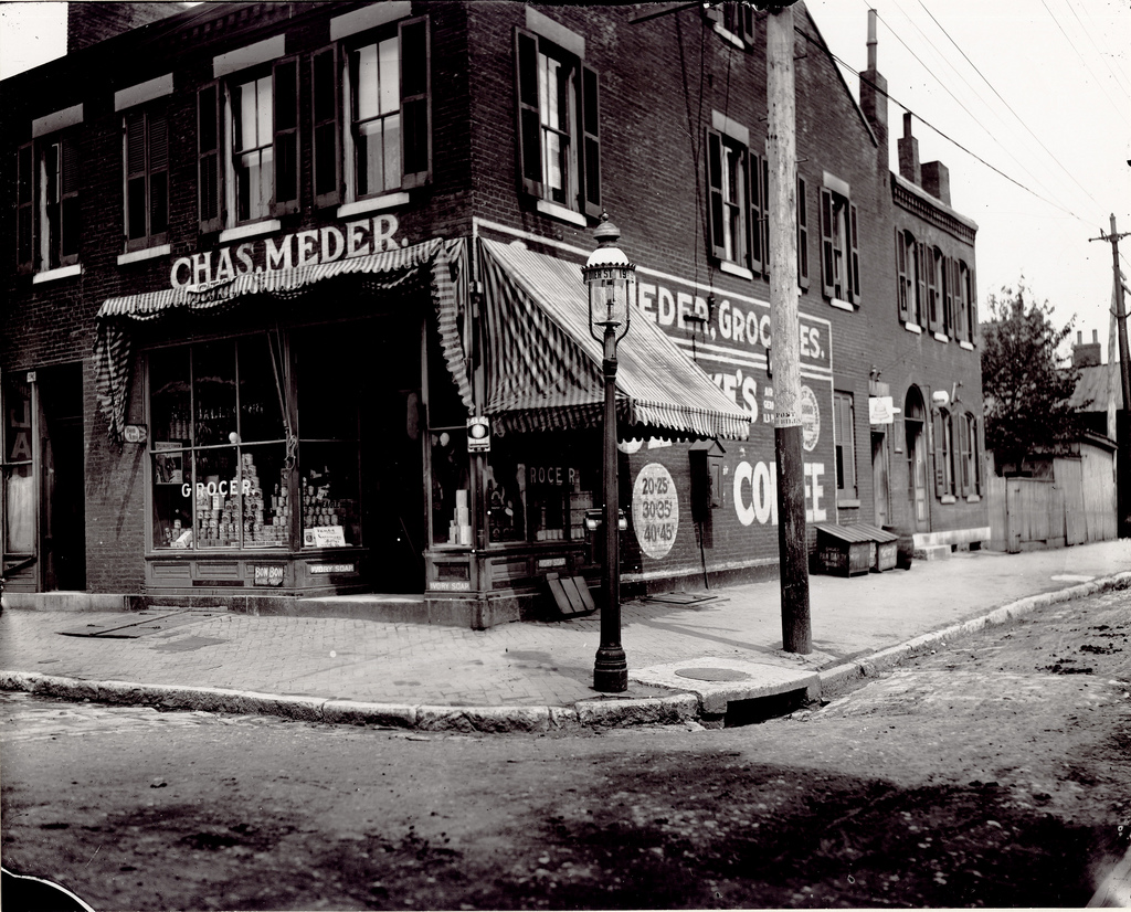 missouri more than 100 years ago 66 amazing vintage pictures of charles meder grocery store at the corner of ninteenth and dodier streets ca 1900s