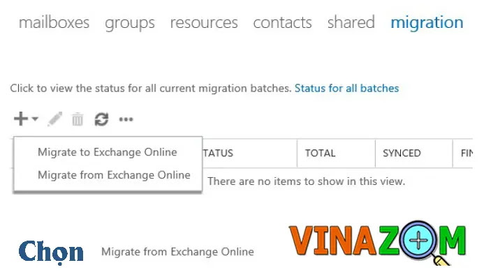chuyển dữ liệu exchange office 365