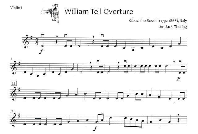 William Tell Overture elementary orchestra arrangement
