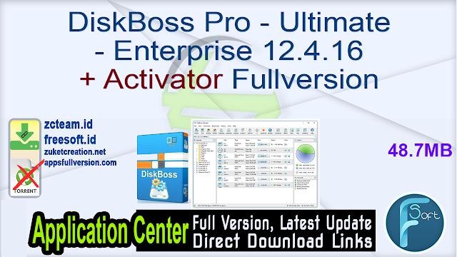 DiskBoss Pro – Ultimate – Enterprise 12.4.16 + Activator Fullversion