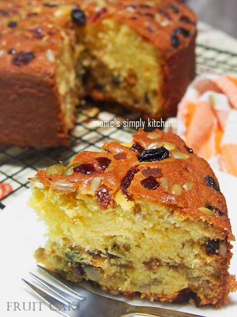 resep cake buah panggang simple