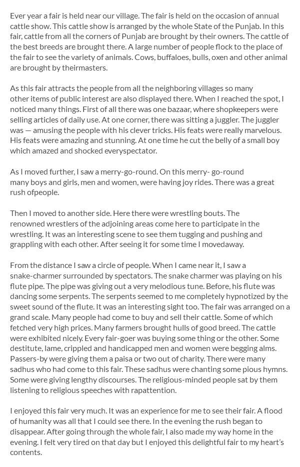 fun fair essay writing Essay on visit to a fair article shared by india is a land of fairs and festivals they are held on important days in the life of the different communities living in this vast country fairs have an importance of their own not only do they afford an opportunity to the people to enjoy themselves and thus break the dull routine of life but.