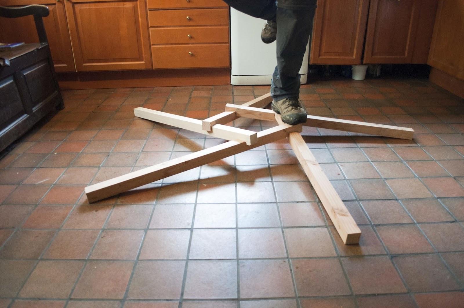 Reciprocal Frame Roof Model