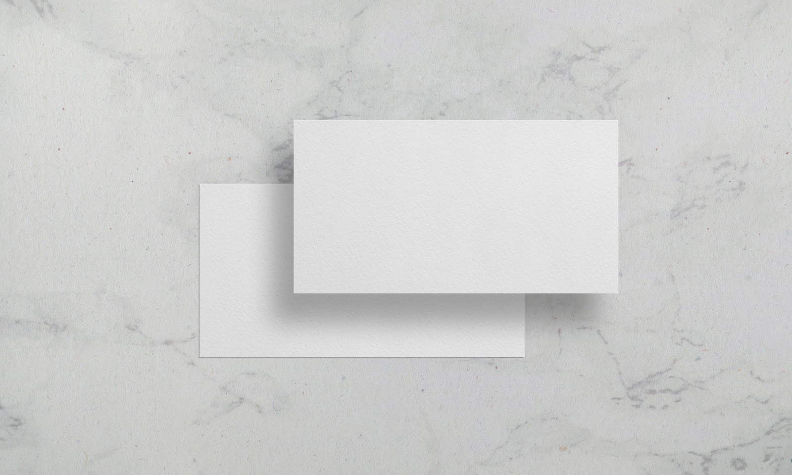 Natural Paper Texture Business Card Mock-Up - Free Download