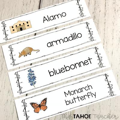 Texas-vocabulary-cards