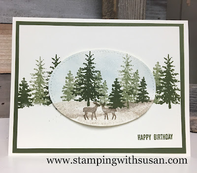 Stampin' Up!, Snow Front, Stitched Shapes Dies, Sponging, www.stampingwithsusan.com.