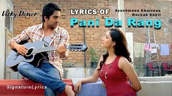 Pani Da Rang Lyrics in Hindi - Ayushmann Khurrana - Vicky Donor