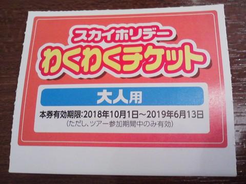 わくわくチケット1 よつ葉ホワイトコージ札幌パセオ店